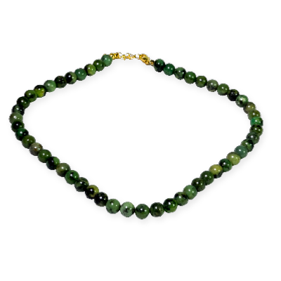Collier de chrysoprase - 45 cm - boules de 8 mm