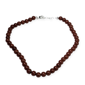 Jaspe rouge - collier 45cm perles 8mm