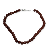 Jaspe rouge - collier 45cm perles 6/8mm